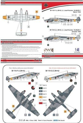 Owl 1/48 Messerschmitt Bf-110F-4/G-2 (Kociok) # DS4868