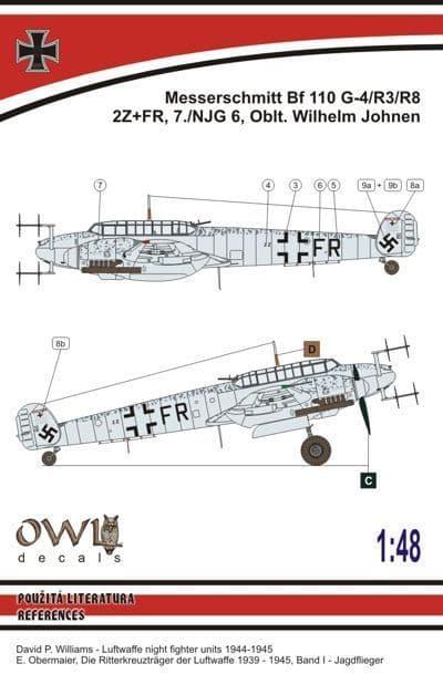 Owl 1/48 Messerschmitt Bf-110G-4 (W. Johnen) # DS4815