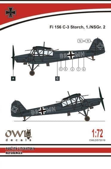 Owl 1/72 Fieseler Fi-156C 'Storch' Nachtschlacht # DS7219