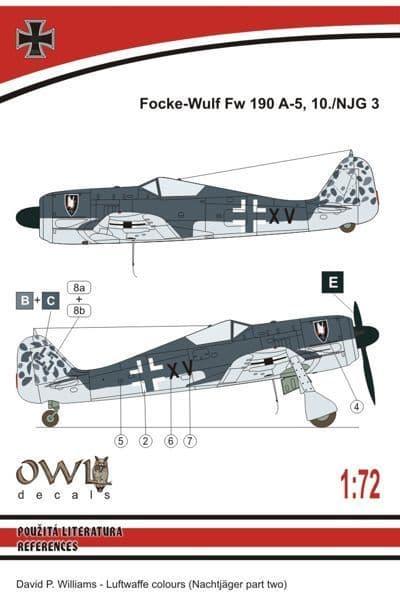 Owl 1/72 Focke-Wulf Fw-190A-5 NJG 5 # DS7213