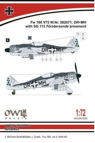 Owl 1/72 Focke-Wulf Fw-190F-8 SG 113 Armament # DS7235