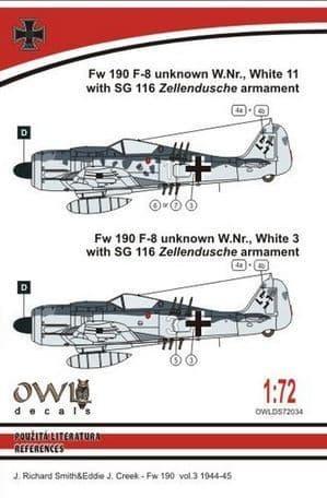 Owl 1/72 Focke-Wulf Fw-190F-8 SG 116 Armament # DS7234