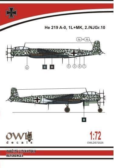 Owl 1/72 Heinkel He-219A-0 1L+MK # DS7225