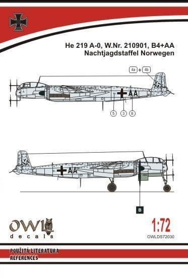 Owl 1/72 Heinkel He-219A-0 B4+AA # DS7230