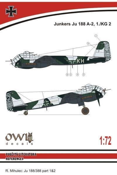 Owl 1/72 Junkers Ju-188A-2, 1./KG 2 # DS7212