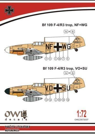 Owl 1/72 Messerschmitt Bf-109F-4/R3 Tropical Reconnaissance # DS7237
