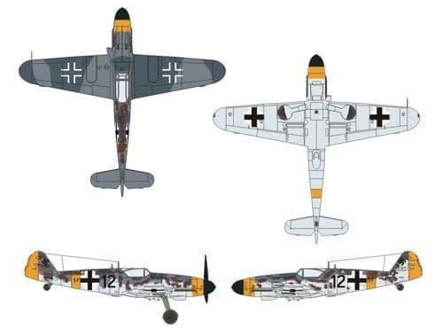 Owl 1/72 Messerschmitt Bf-109G-10/R2 (5F+12) Reconnaissance # DS7238