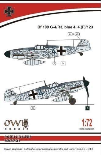 Owl 1/72 Messerschmitt Bf-109G-4/R3 Blue 4 Reconnaissance # DS7233