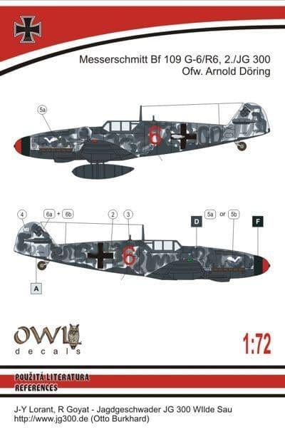 Owl 1/72 Messerschmitt Bf-109G-6 (A. Döring) # DS7209