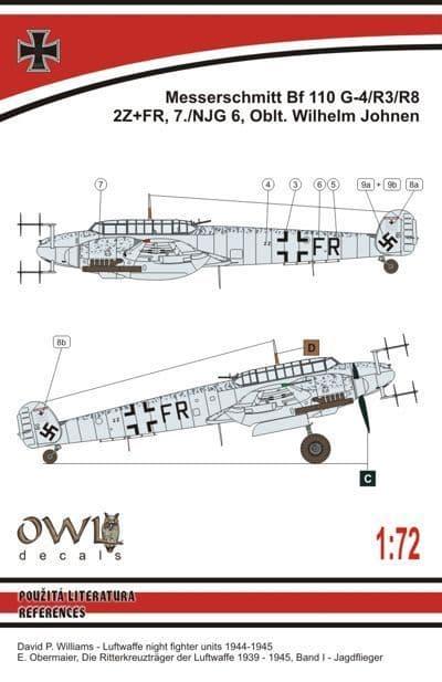 Owl 1/72 Messerschmitt Bf-110 G-4 (W. Johnen) # DS7215