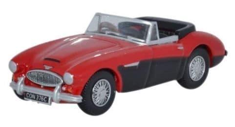 Oxford 1/76 Austin Healey 3000 Colorado Red/Black # 76AH3002