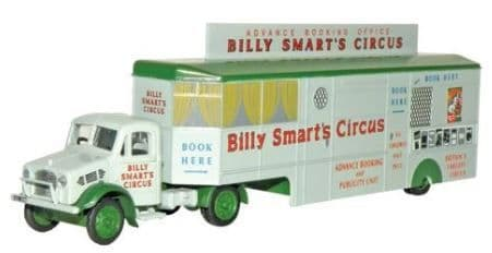 Oxford 1/76 Bedford OX Booking Office Billy Smart's Circus # 76BD013