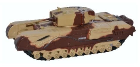 Oxford 1/76 Churchill Tank Mk.III Kingforce - Major King # 76CHT001