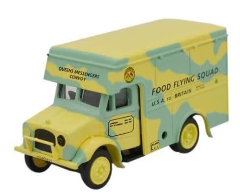 Oxford 1/76 Food Flying Squad Bedford OX 30cwt Van # 76BD001