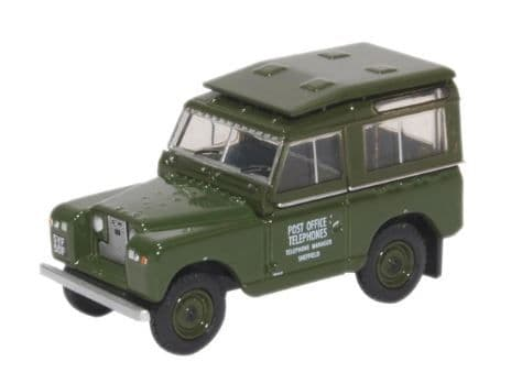 Oxford 1/76 Land Rover Series II SWB Hard Top Post Office Telephones # 76LR2S003