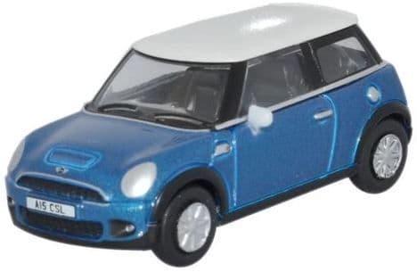 Oxford 1/76 Mini Cooper Laser Blue # 76NMN006