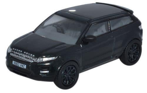 Oxford 1/76 Range Rover Evoque Santorini Black # 76RR004
