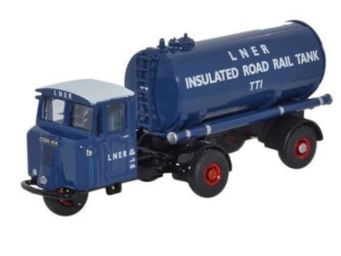 Oxford 1/76 Scammell Mechanical Horse Tanker LNER # 76MH018