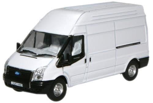 Oxford 1/76 White Transit LWB High Top Van # 76FT006
