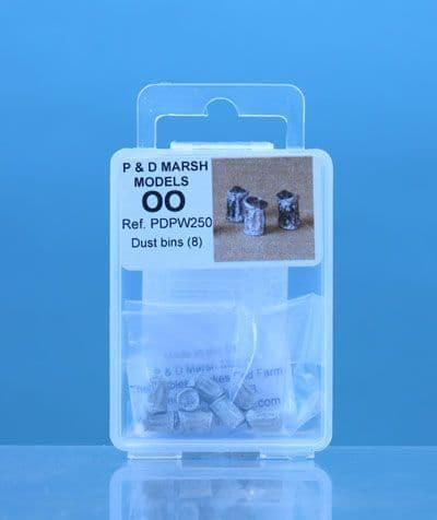 P & D Marsh OO Gauge Dustbins # PDPW250