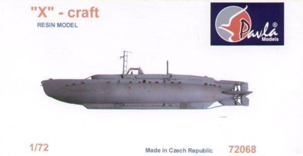Pavla 1/72 X-Craft British midget submarine # 72068
