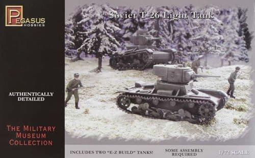 Pegasus Hobbies 1/72 Soviet T-26 Light Tank # 7671