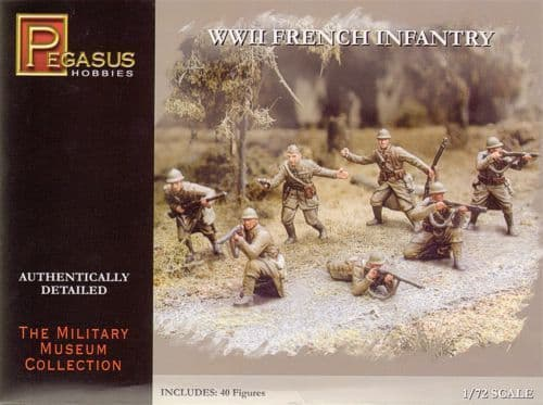 Pegasus Hobbies 1/72 WWII French Infantry # 7306