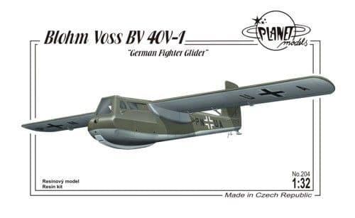 Planet 1/32 Blohm und Voss Bv40V-1 German Fighter Glider # 20432