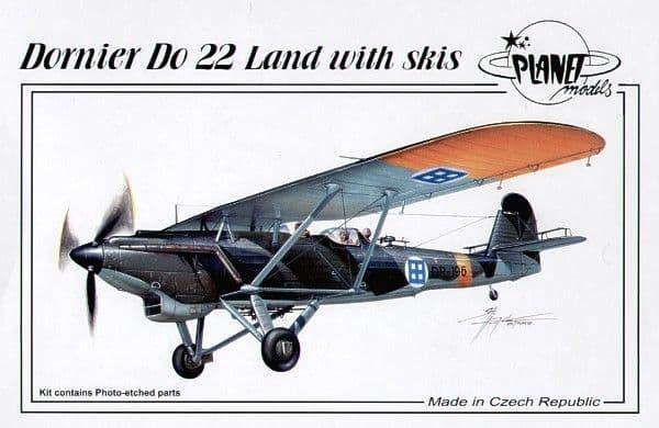 Planet 1/48 Dornier Do22 Land with Skis # 12548
