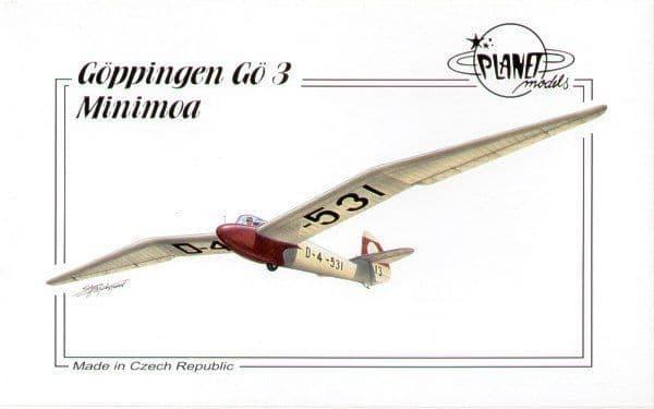 Planet 1/48 Goppingen Go3 Minimoa Glider # 13872