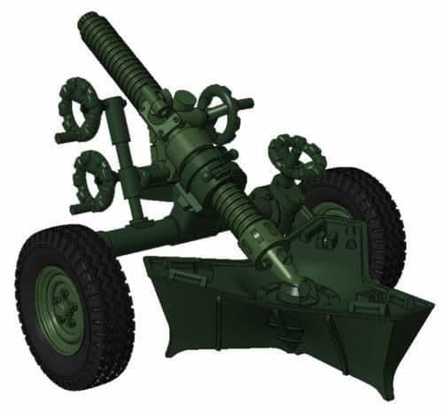 "Planet 1/72 MO-120-RT-61 ""120mm Rifled Towed Mortar"" # MV100"