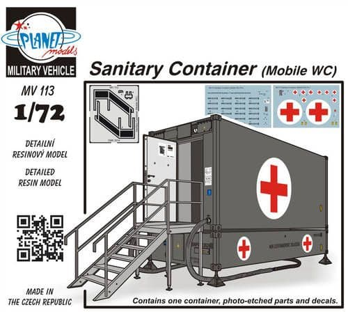 Planet 1/72 Sanitary Container (Mobile WC) # MV113