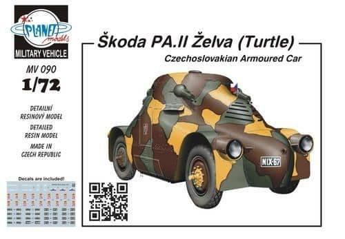 Planet 1/72 Skoda PA.II Zelva (Turtle) Czechoslovakian Armoured Car # MV090