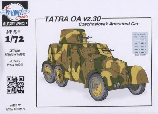 Planet 1/72 Tatra OA vz.30 Czechoslovak Armoured Car # MV104