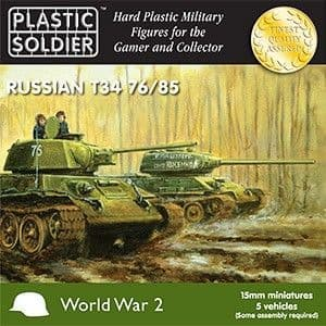 Plastic Soldier 15mm 1/100 T-34/76 or T-34/85 * 5 # WW2V15001