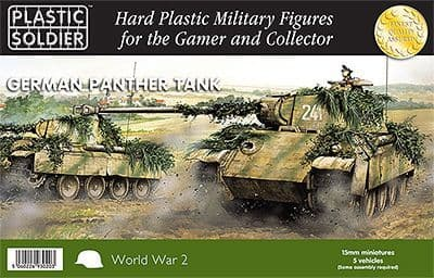 Plastic Soldier 15mm German Panther Tank # WW2V15012