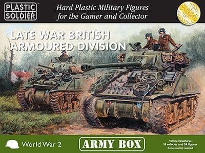 Plastic Soldier 15mm Late War British Armoured Division - Army Box # PSCAB15002