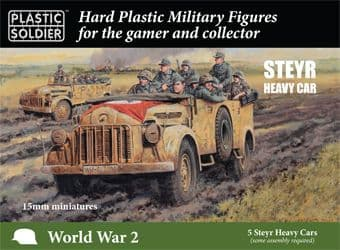 Plastic Soldier 15mm Steyr Heavy Cars # WW2V15037