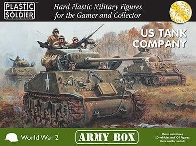 Plastic Soldier 15mm U.S. Tank Company - Army Box # PSCAB15003