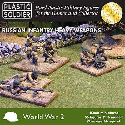 Plastic Soldier 15mm WWII Russian Infantry Heavy Weapons # WW201