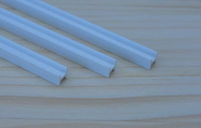 Plastruct - Pack of 4 H Columns - 9.5 x 380mm # PHFS12