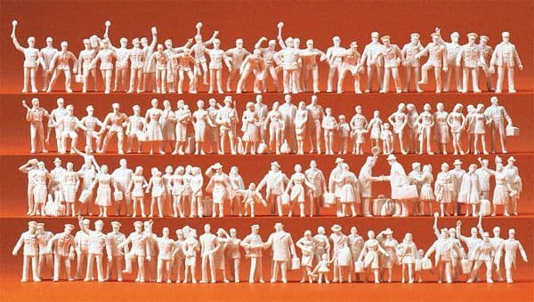 Preiser HO Scale Railway Personnel and Passengers (120) # 16325