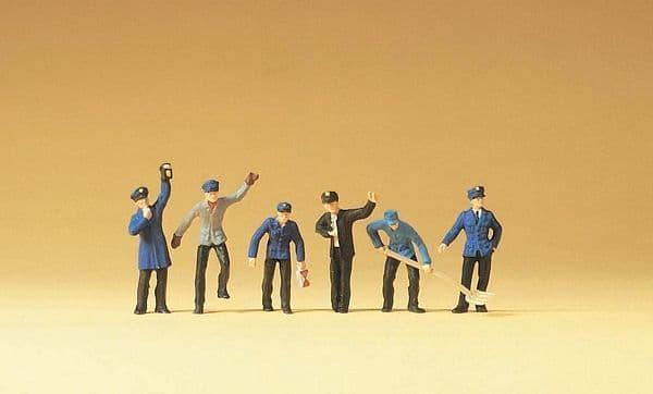 Preiser HO Scale Railway Yard Workers (6) # 14013