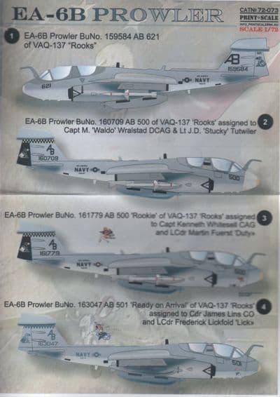 Print Scale 1/72 Grumman EA-6B Prowler # 72073