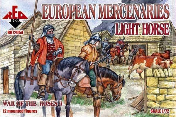 Red Box 1/72 European Mercenaries Light Horse Wars of the Roses # 72054
