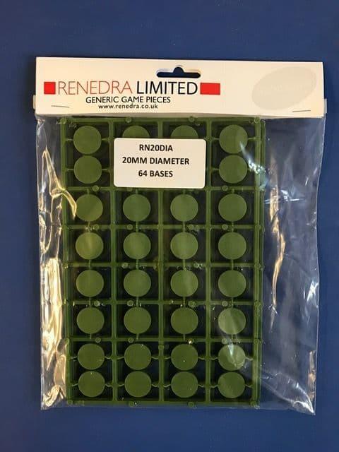 Renedra 20mm Diameter 64 Bases # RN20DIA