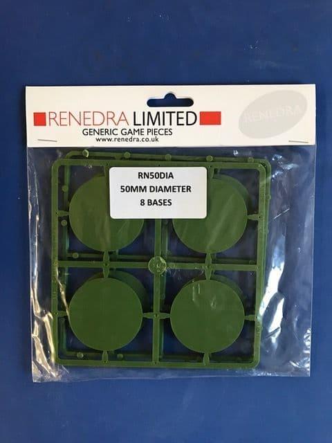 Renedra 50mm Diameter 8 Bases # RN50DIA