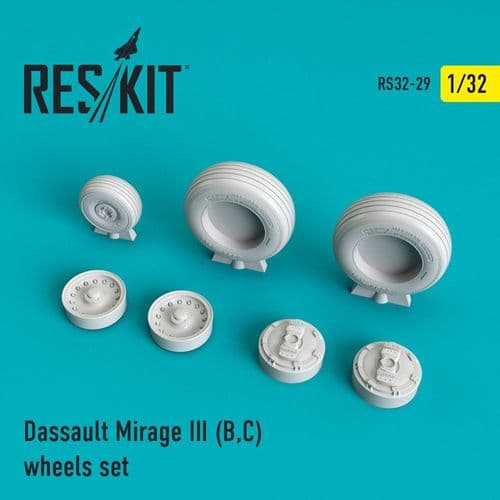ResKit 1/32 Dassault Mirage III (B,C) Wheels Set # 32-0029
