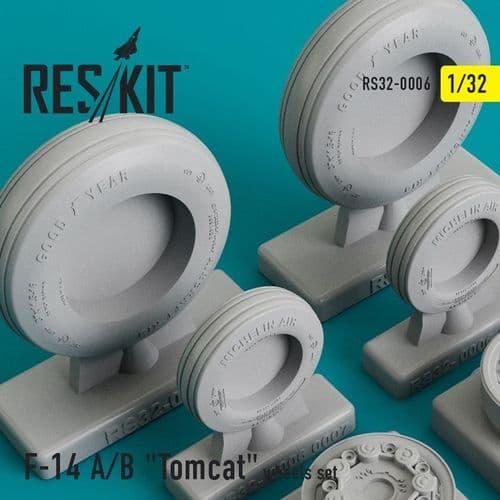 ResKit 1/32 Grumman F-14A/F-14B 'Tomcat' Wheels Set # 32-0006