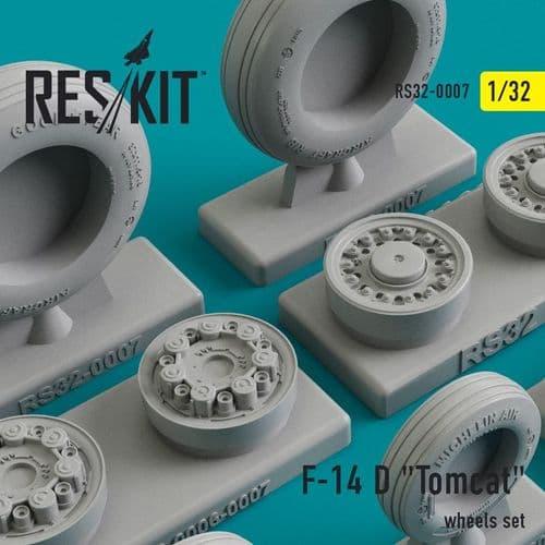 ResKit 1/32 Grumman F-14D 'Tomcat' Wheels Set # 32-0007